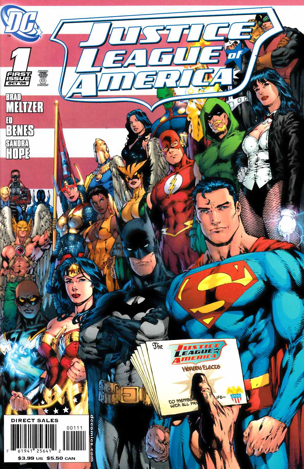 Justice League of America #1 Cover B Near Mint Minus (9.2) [DC Comic] THUMBNAIL