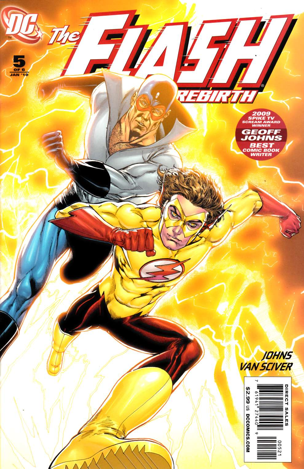 Flash Rebirth #5 Van Sciver Variant Cover Near Mint (9.4) [DC Comic] LARGE