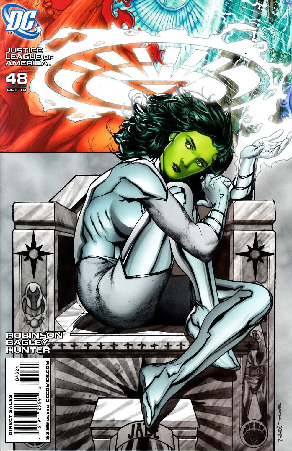 Justice League of America #48 Sook White Lantern Variant Cover Near Mint (9.4) [DC Comic]_THUMBNAIL