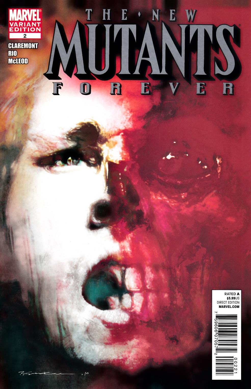 New Mutants Forever #2 Sienkiewicz Variant Cover [Marvel Comic]