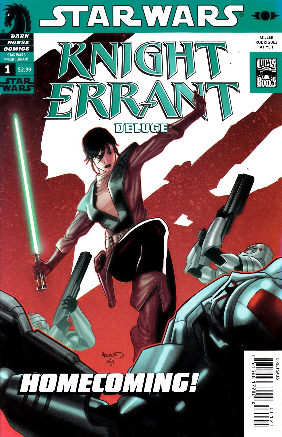 Star Wars Knight Errant Deluge #1 Renaud Variant Cover Very Fine Plus (8.5) [Dark Horse Comic] THUMBNAIL