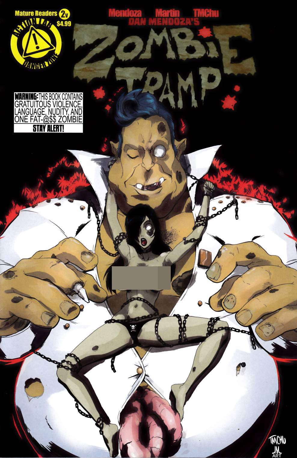 Zombie Tramp Ongoing #2 Risque Cover- Fine (6.0) [Danger Zone Comic] THUMBNAIL
