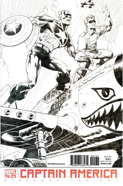 Captain America #25 Steranko Variant Cover [Marvel Comic]