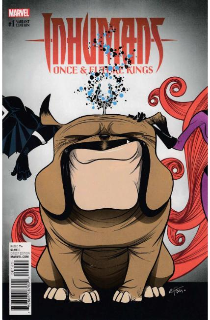 Inhumans Once Future Kings #1 Duarte Lockjaw Variant Cover [Marvel Comic]_LARGE