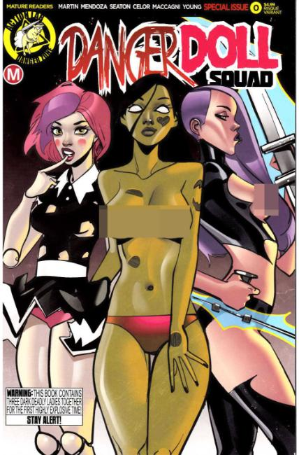 Danger Doll Squad #0 Cover B- Celor Risque [Danger Zone Comic]
