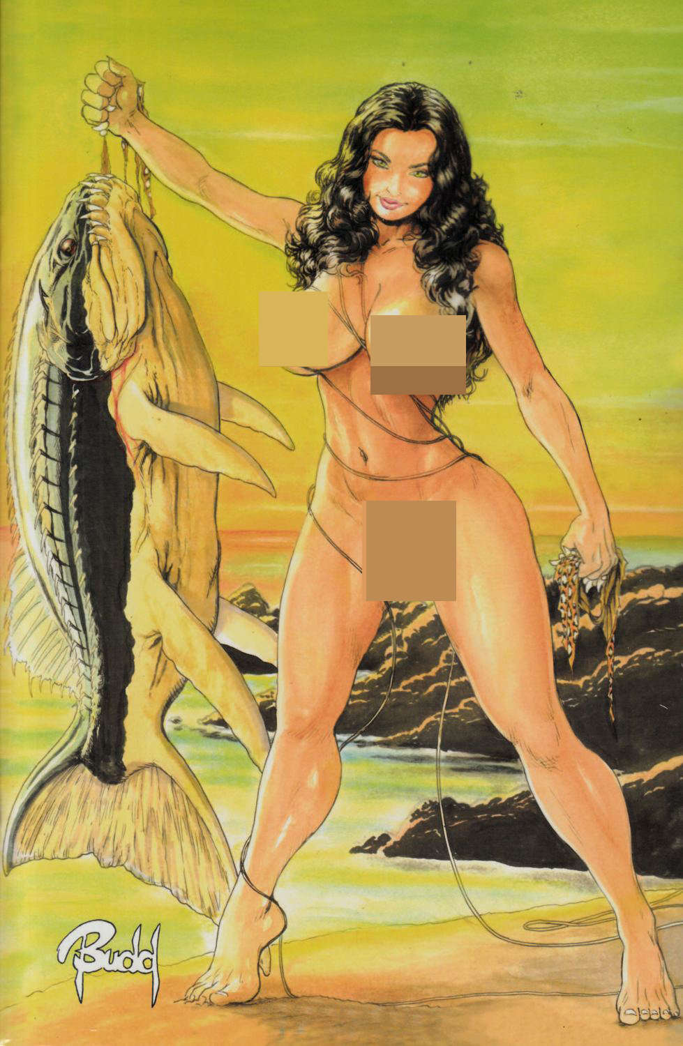 Cavewoman Carries Oasis Diary #1 Cover E- Root Nude [Amryl Comic]_THUMBNAIL
