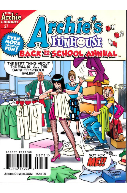 Archie Funhouse Back to School Annual Digest #27 [Archie Comic]