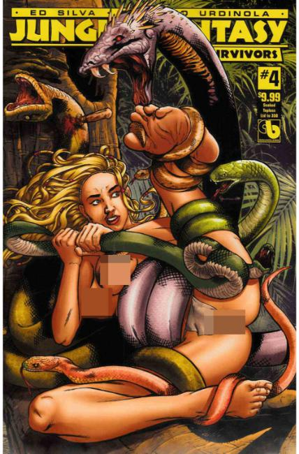 Jungle Fantasy Survivors #4 Snaked Topless Cover [Boundless Comic] THUMBNAIL
