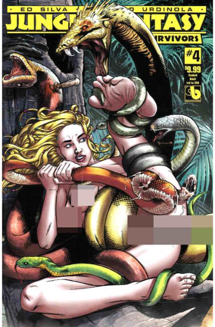 Jungle Fantasy Survivors #4 Snaked Adult Cover [Boundless Comic]