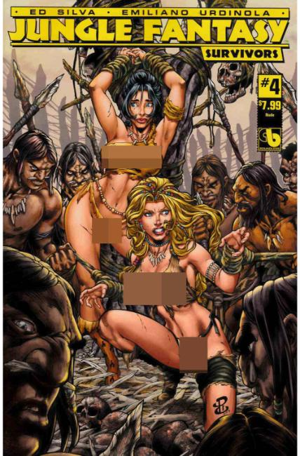 Jungle Fantasy Survivors #4 Nude Cover [Boundless Comic] THUMBNAIL
