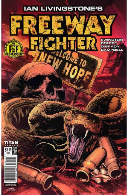 Ian Livingstones Freeway Fighter #4 Cover B [Titan Comic] LARGE