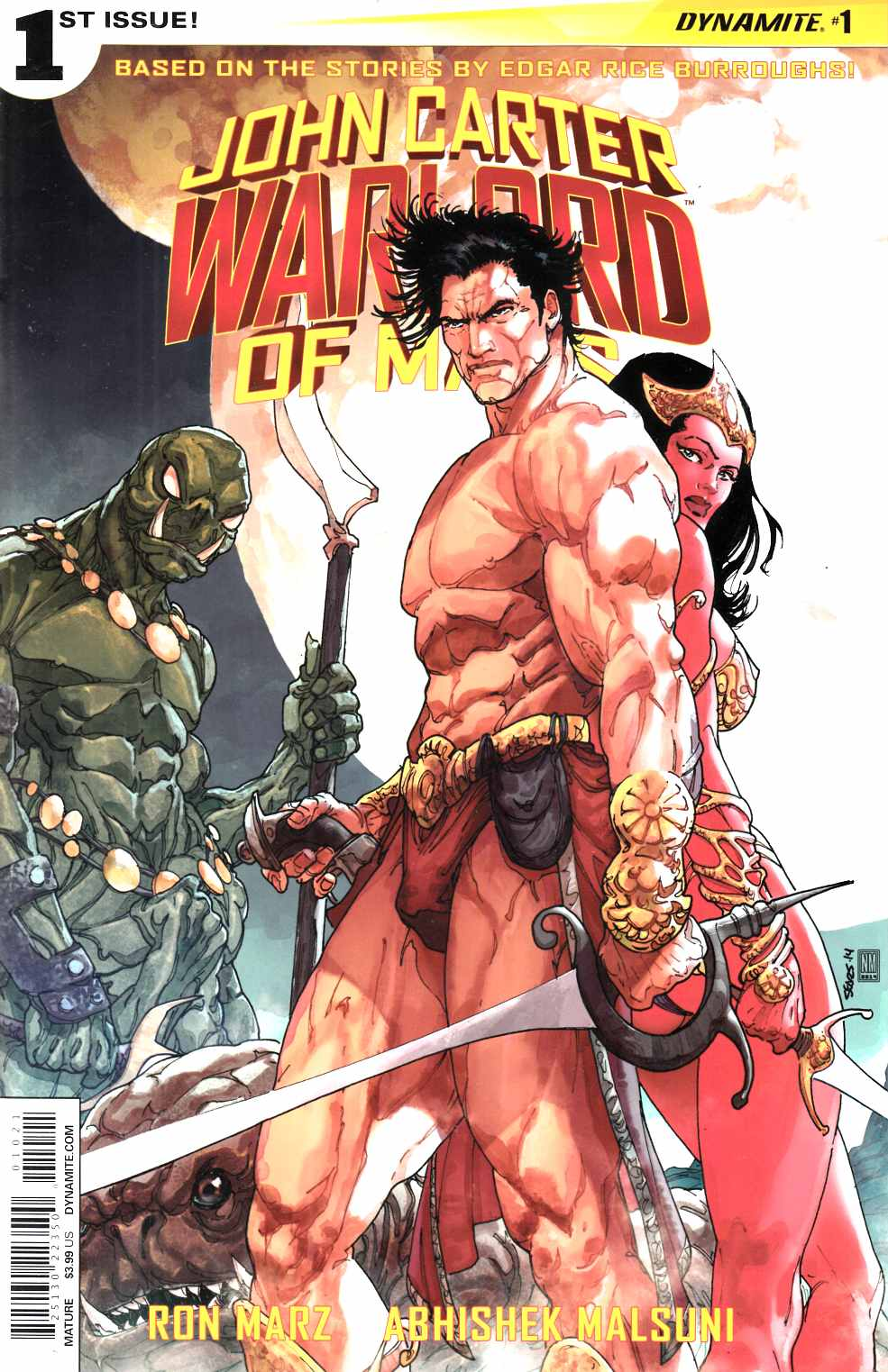 John Carter Warlord #1 Cover B- Sears [Dynamite Comic]_THUMBNAIL