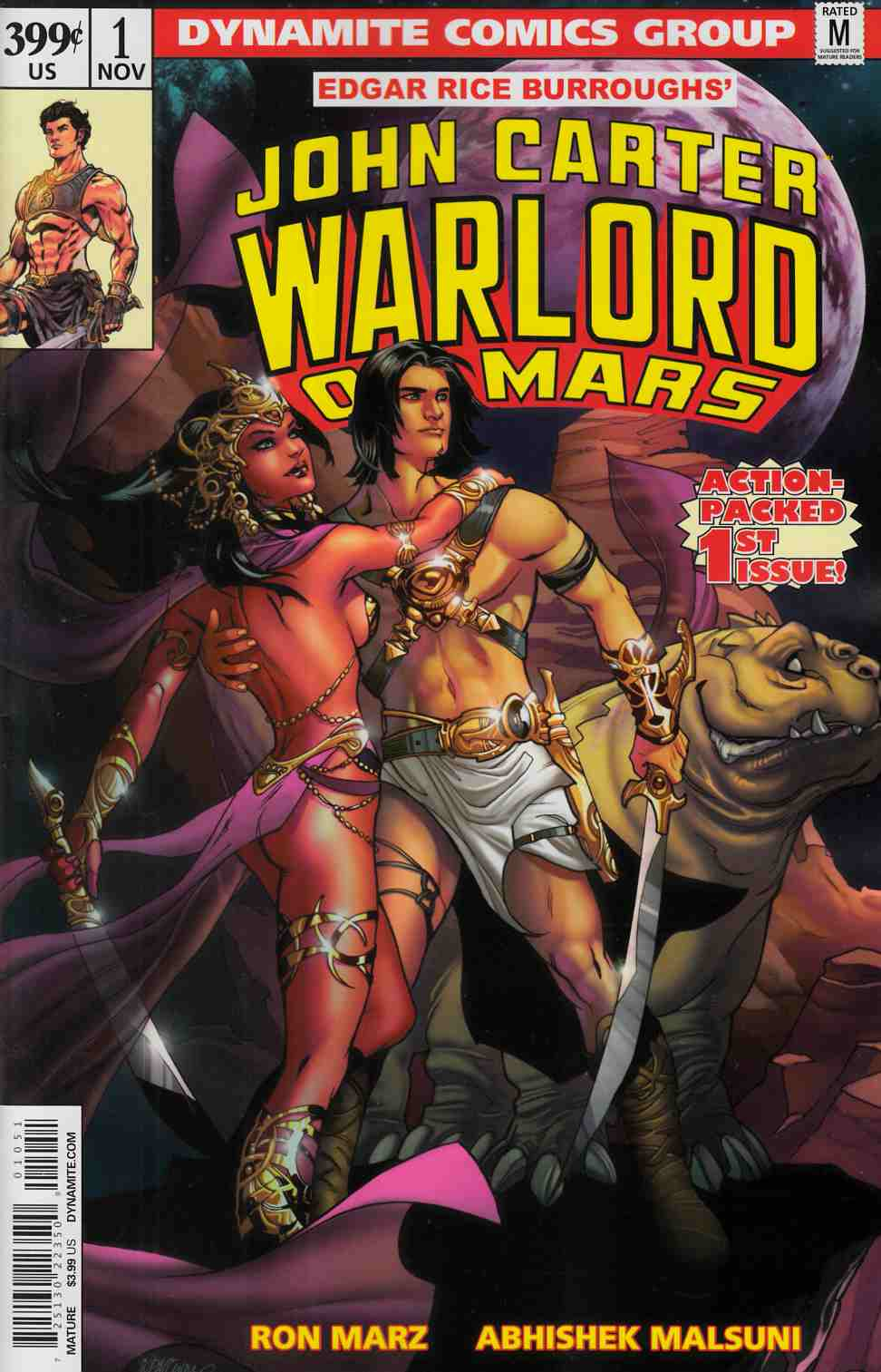 John Carter Warlord #1 Cover E- Lupacchino [Dynamite Comic]