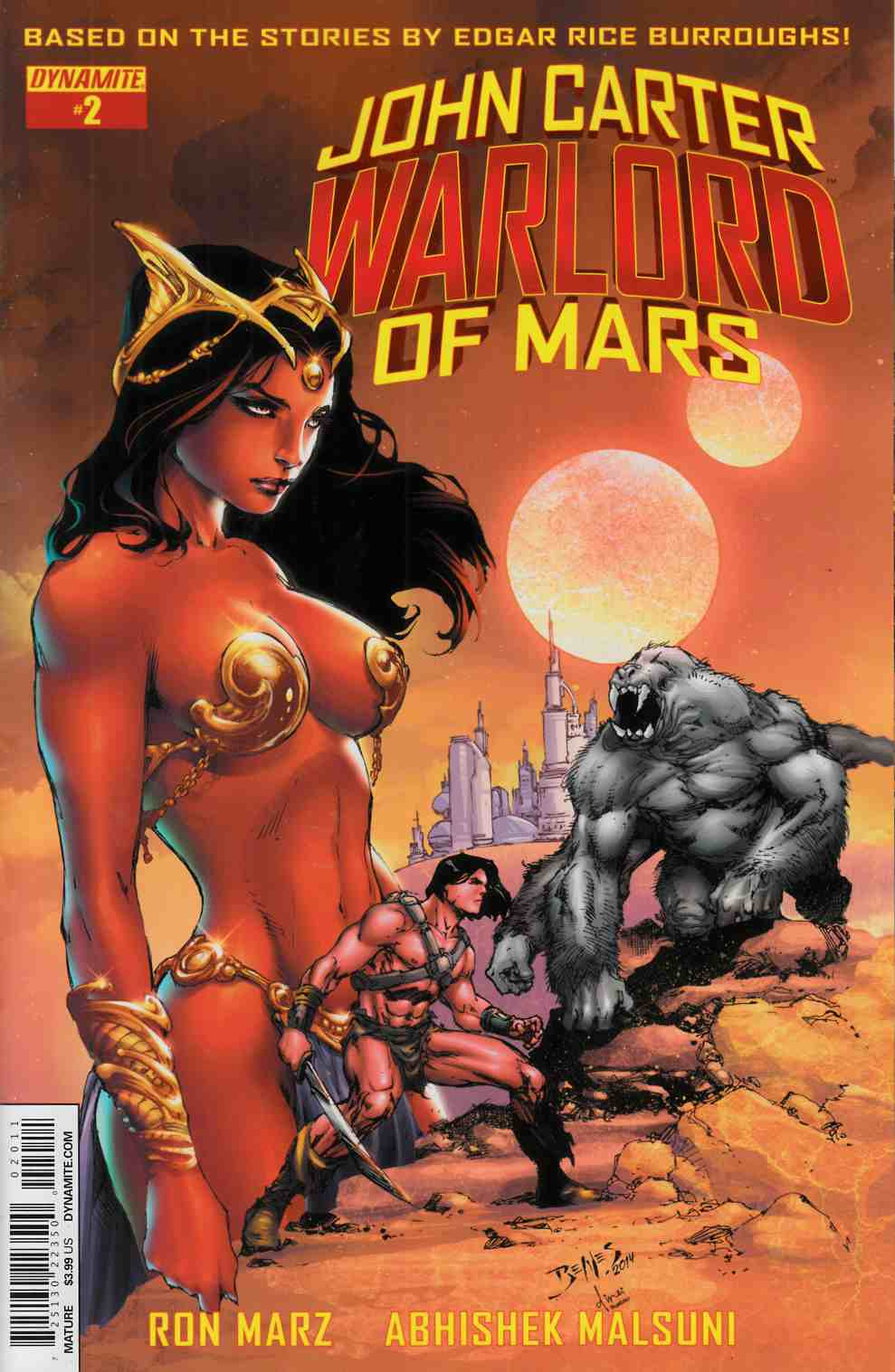 John Carter Warlord #2 Cover A- Benes Main Cover [Dynamite Comic]