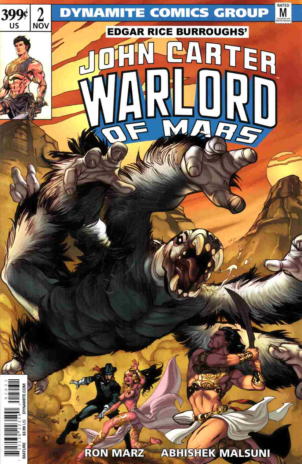 John Carter Warlord #2 Cover C- Lupacchino Variant Cover [Dynamite Comic] THUMBNAIL