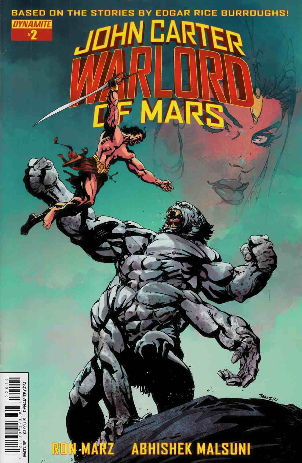 John Carter Warlord #2 Cover B- Sears Variant Cover [Dynamite Comic] LARGE