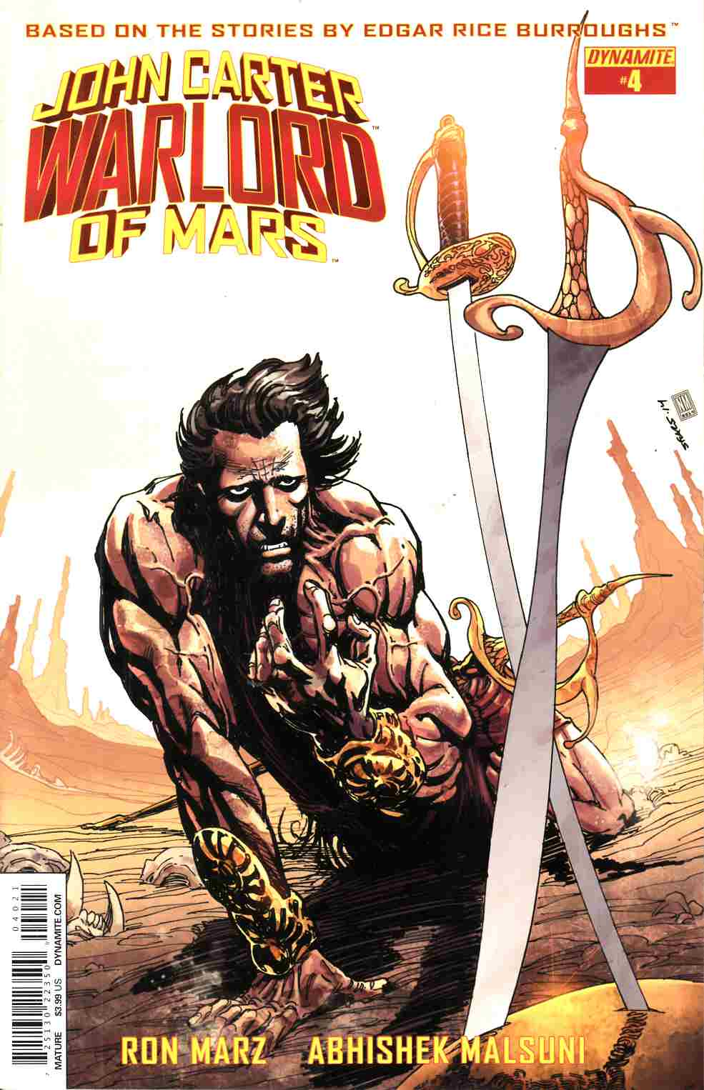 John Carter Warlord #4 Cover B- Sears [Dynamite Comic] THUMBNAIL