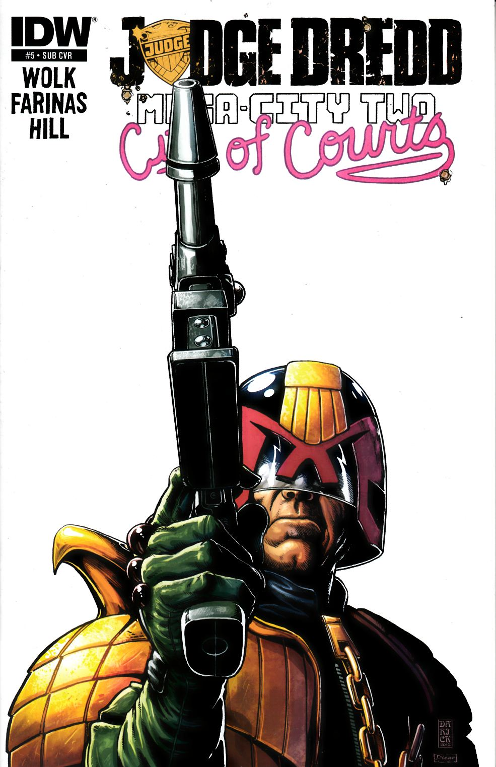 Judge Dredd Mega City Two #5 Subscription Cover [IDW Comic]