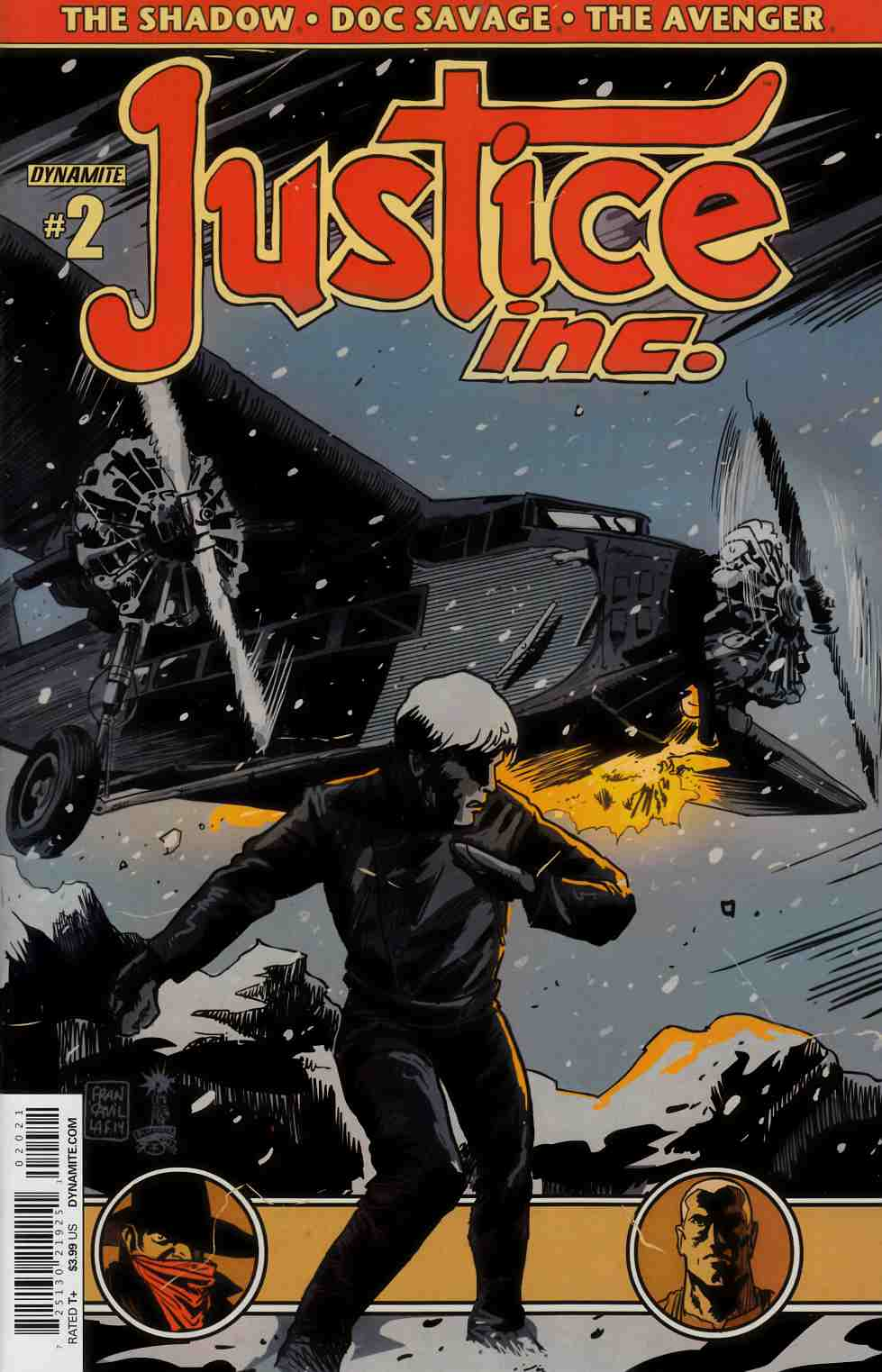 Justice Inc #2 Cover A- Francavilla [Dynamite Comic] LARGE
