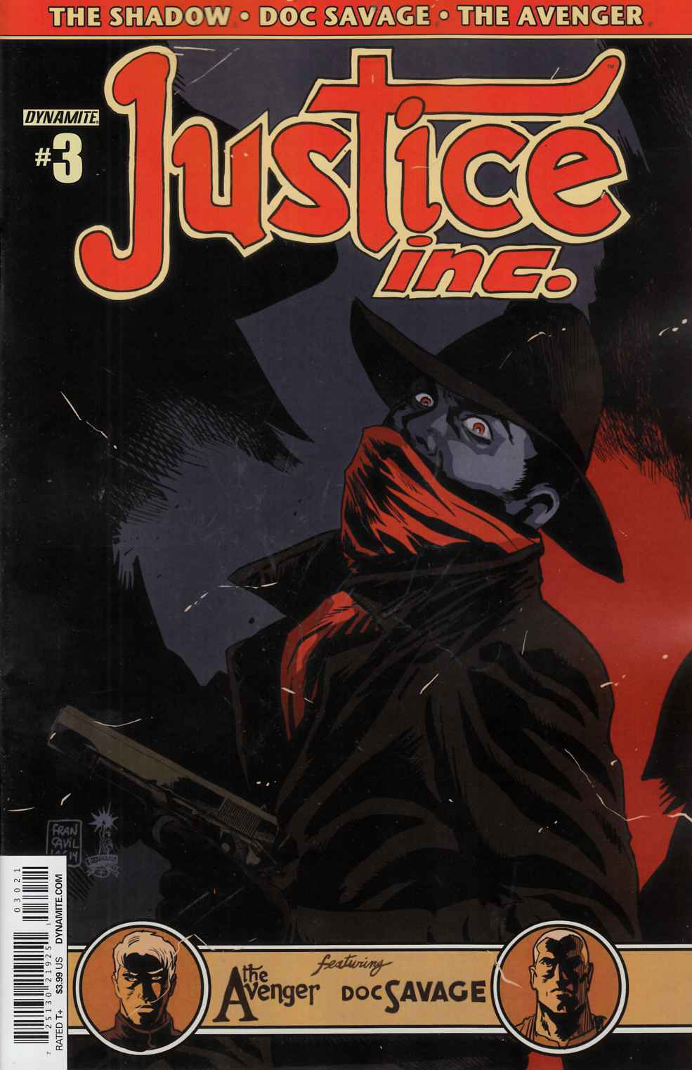 Justice Inc #3 Cover B- Francavilla [Comic]