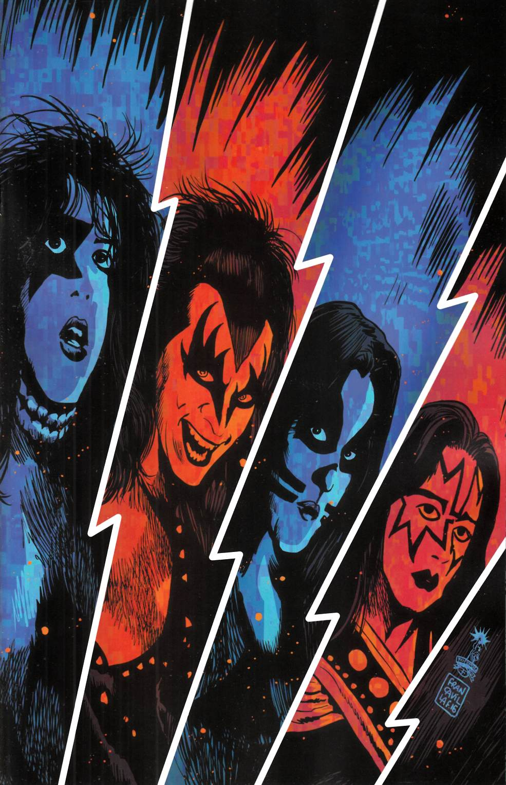 KISS #1 Cover L- Francavilla Virgin Incentive [Dynamite Comic] THUMBNAIL