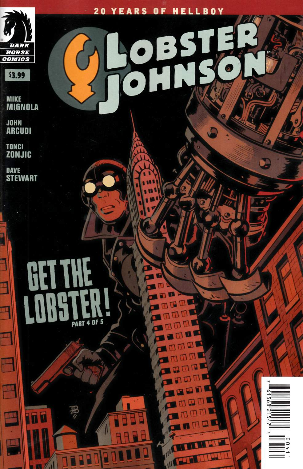 Lobster Johnson Get Lobster #4 [Dark Horse Comic] THUMBNAIL