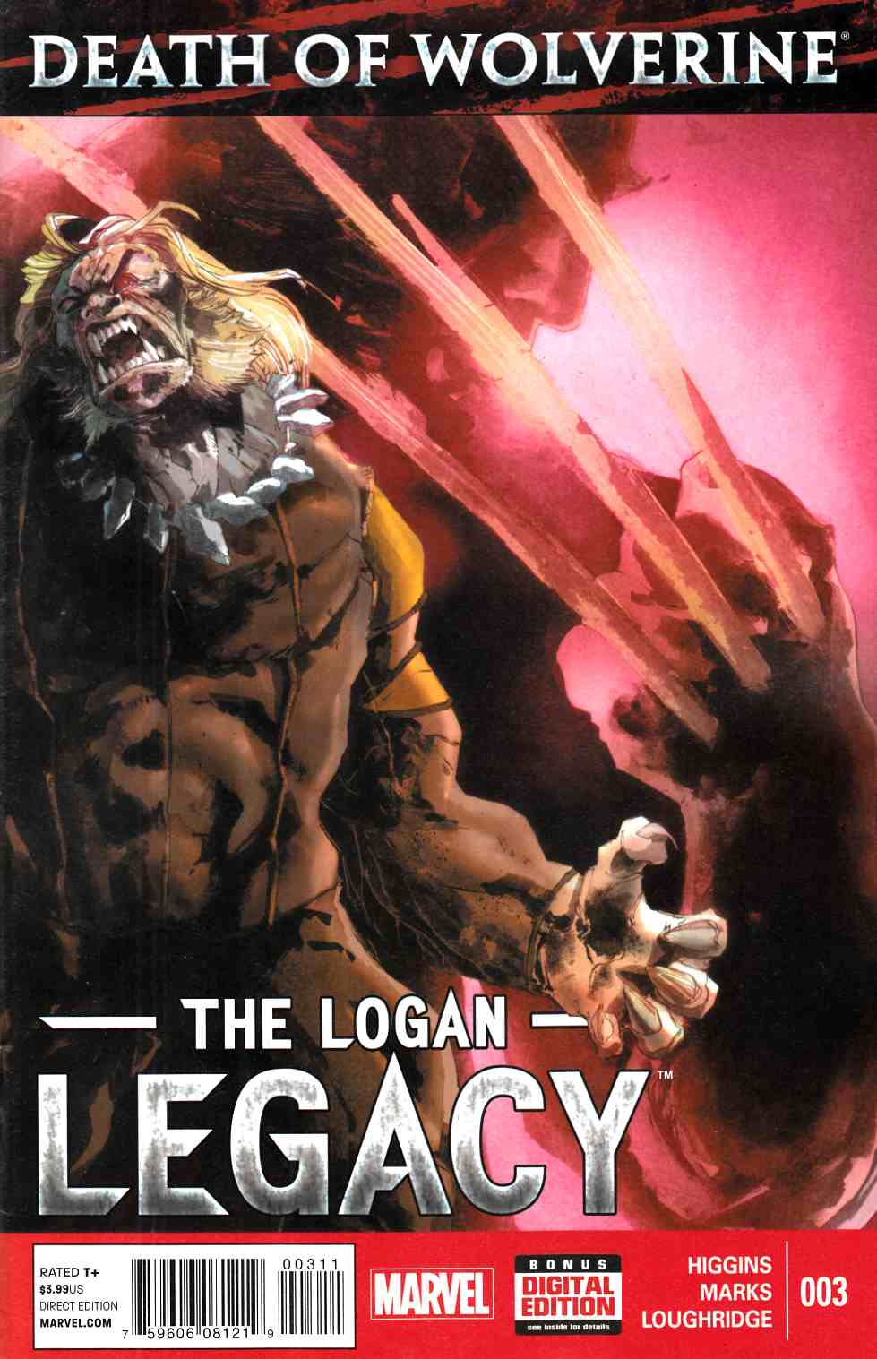 Death Of Wolverine Logan Legacy #3 [Marvel Comic] LARGE