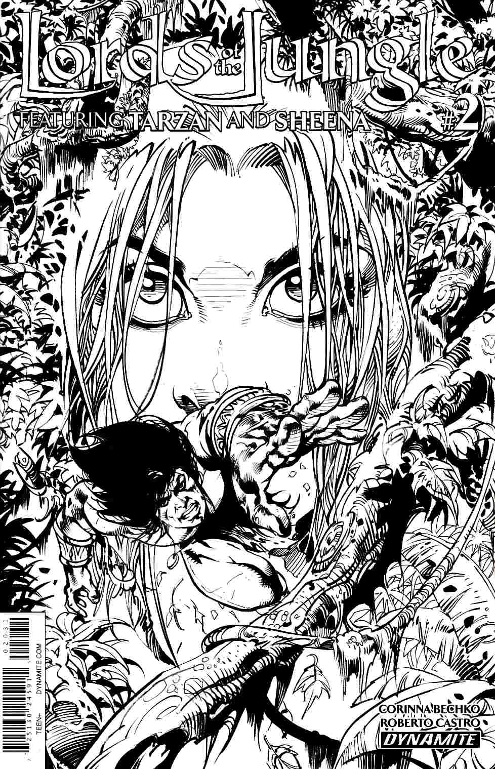 Lords of the Jungle #2 Cover C B&W Variant [Dynamite Comic]_THUMBNAIL
