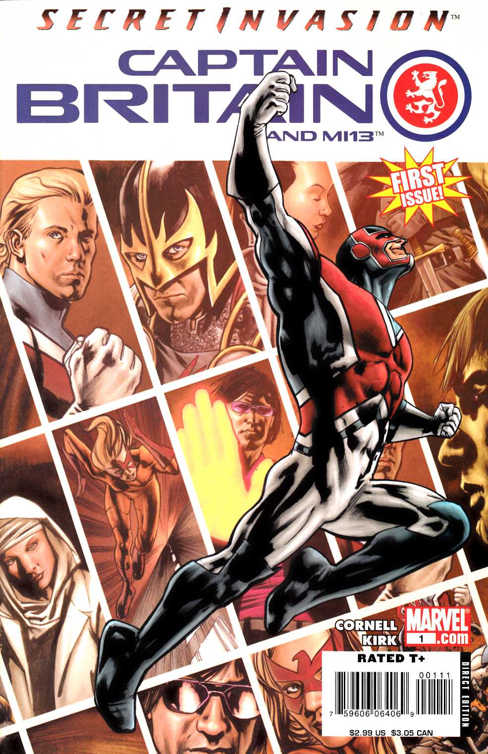 Captain Britain and MI 13 #1 Very Fine (8.0) [Marvel Comic] THUMBNAIL