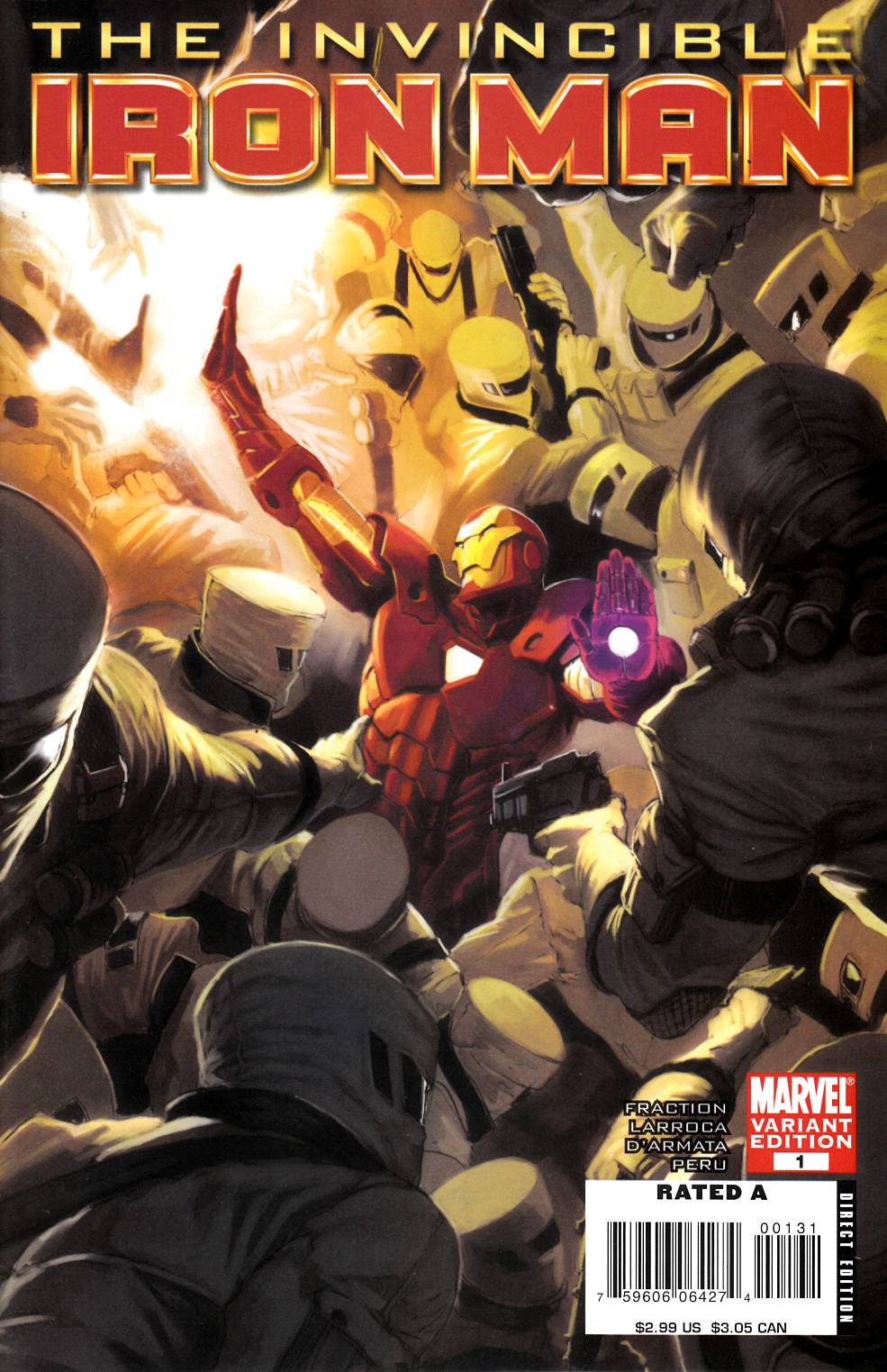 Invincible Iron Man #1 Djurdjevic Variant Cover Near Mint (9.4) [Marvel Comic] THUMBNAIL