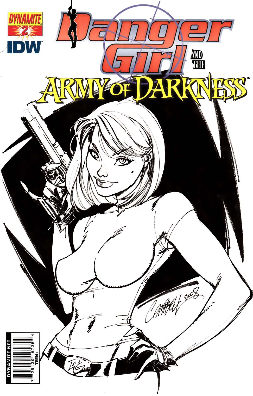 Danger Girl Army of Darkness #2 Cover D- Campbell Sketch Incentive [Comic] THUMBNAIL