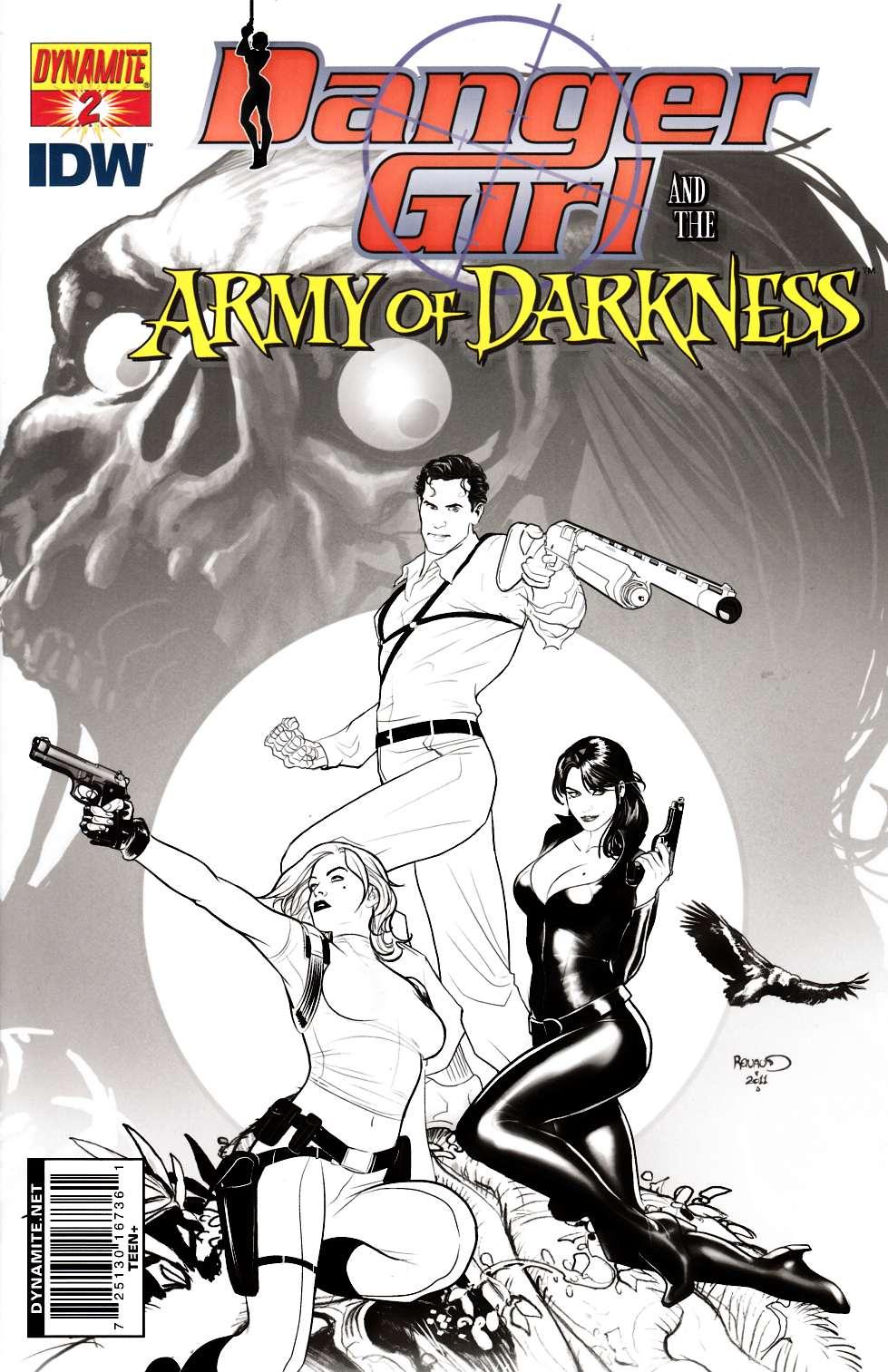 Danger Girl Army of Darkness #2 Cover E- Renaud B&W Incentive [Dynamite Comic]_THUMBNAIL
