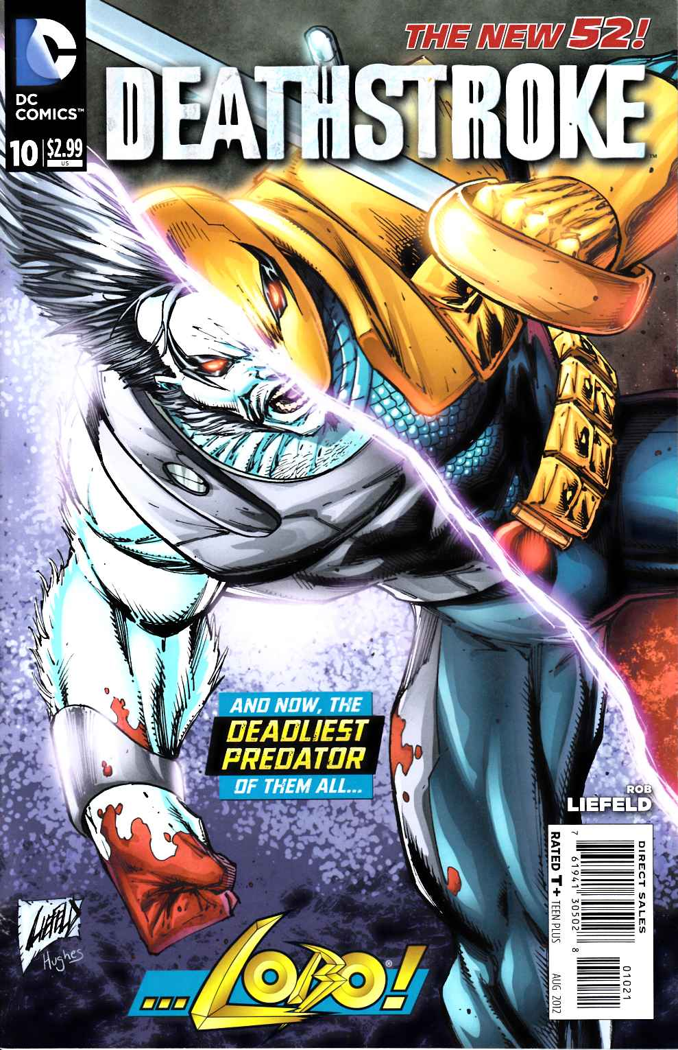 Deathstroke #10 Liefeld Variant Cover Fine (6.0) [DC Comic]