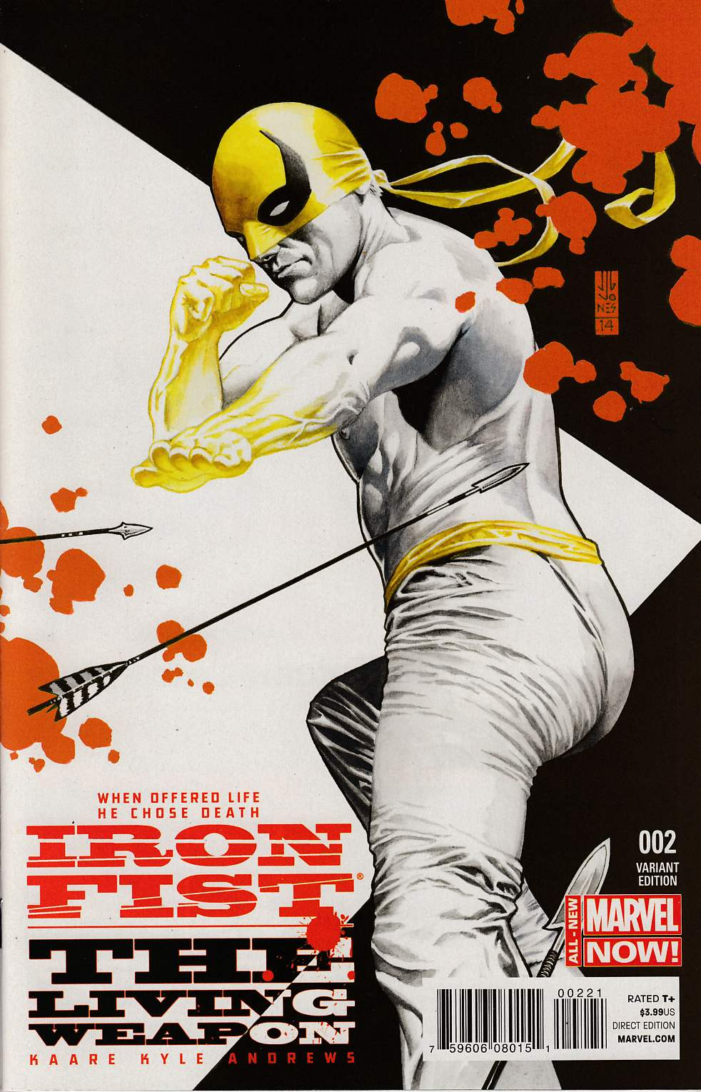 Iron Fist Living Weapon #2 Jones Variant Cover [Marvel Comic] THUMBNAIL