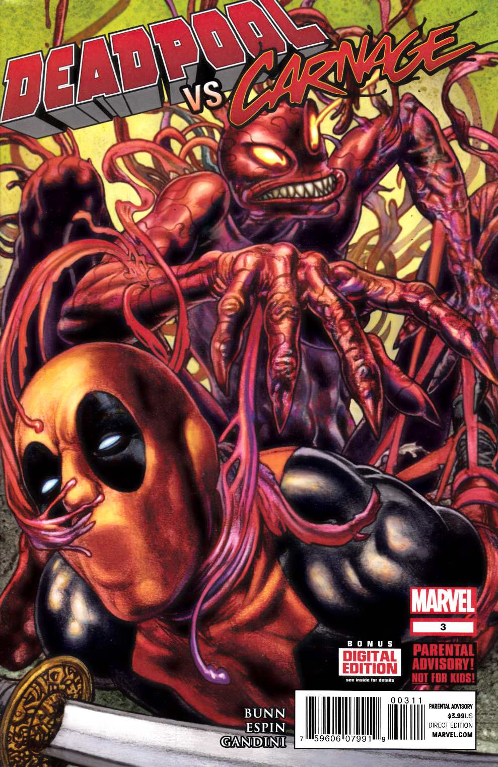 Deadpool vs Carnage #3 Very Fine Plus (8.5) [Marvel Comic] THUMBNAIL