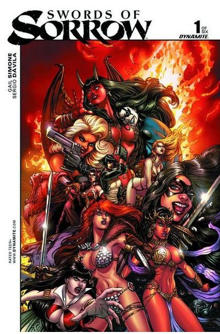 Swords Of Sorrow #1 Cover F- Chin Unique Art Incentive [Dynamite Comic]_THUMBNAIL