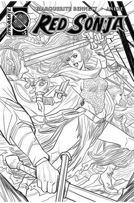Red Sonja Volume 3 #5 Cover B Sauvage B&W Variant Cover [Dynamite Comic]_THUMBNAIL