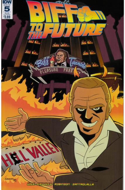 Back to the Future Biff to the Future #5 Subscription Cover [IDW Comic]