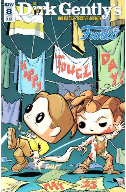 Dirk Gently Salmon of Doubt #8 Funko Art Cover [IDW Comic] THUMBNAIL