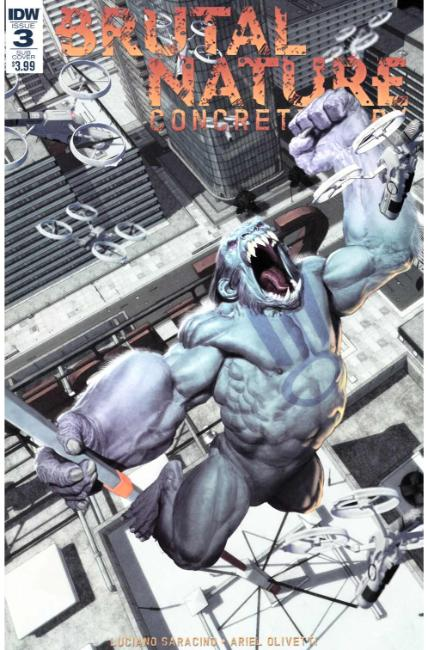 Brutal Nature Concrete Fury #3 Subscription Cover [IDW Comic]