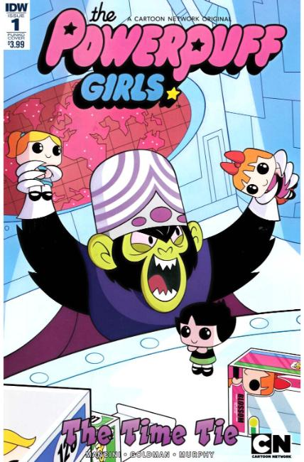 Powerpuff Girls Time Tie #1 Funko Art Cover [IDW Comic] THUMBNAIL