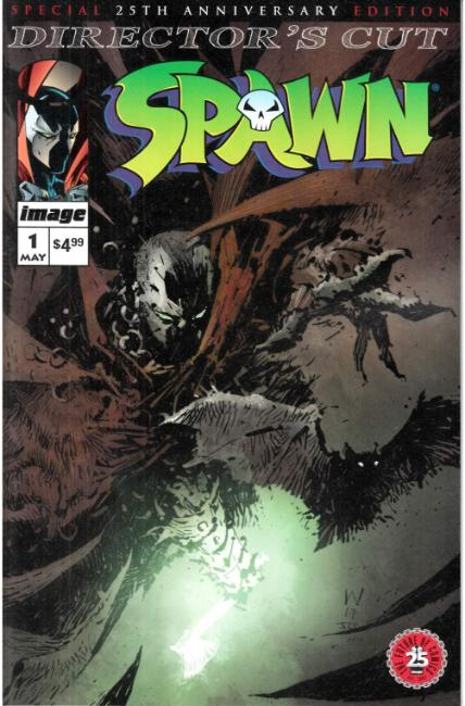 Spawn #1 25th Anniversary Directors Cut Cover A- Wood [Image Comic]