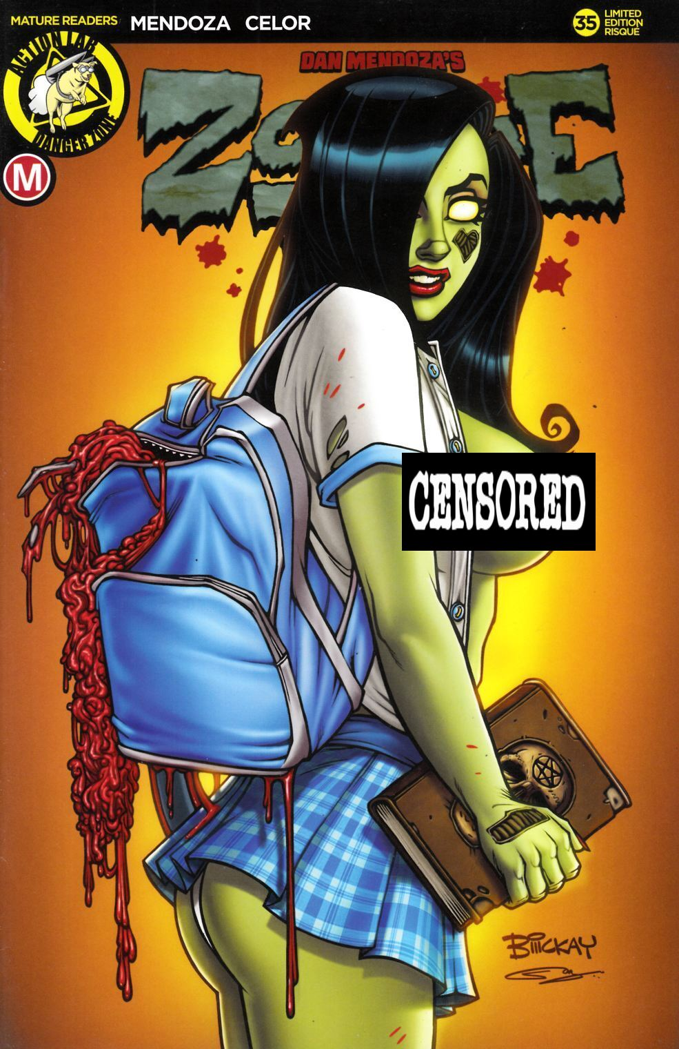 Zombie Tramp Ongoing #35 Cover D McKay Schoolgirl Risque Very Fine (8.0) [Action Lab Comic] THUMBNAIL