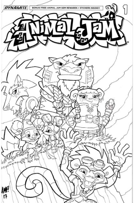 Animal Jam #1 Cover D [Dynamite Comic] THUMBNAIL