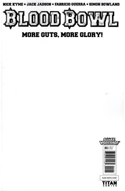 Blood Bowl More Guts More Glory #1 Cover F- Blank Sketch [Titan Comic] THUMBNAIL