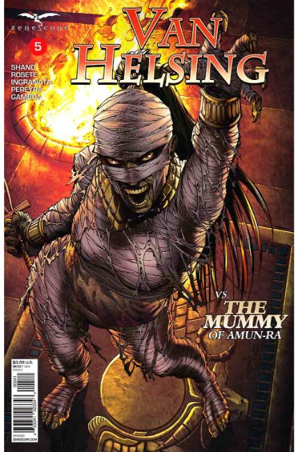 GFT Van Helsing vs the Mummy of Amun Ra #5 Cover D [Zenescope Comic]