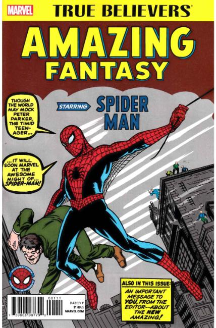 True Believers Amazing Fantasy Starring Spider-Man #1 [Marvel Comic]