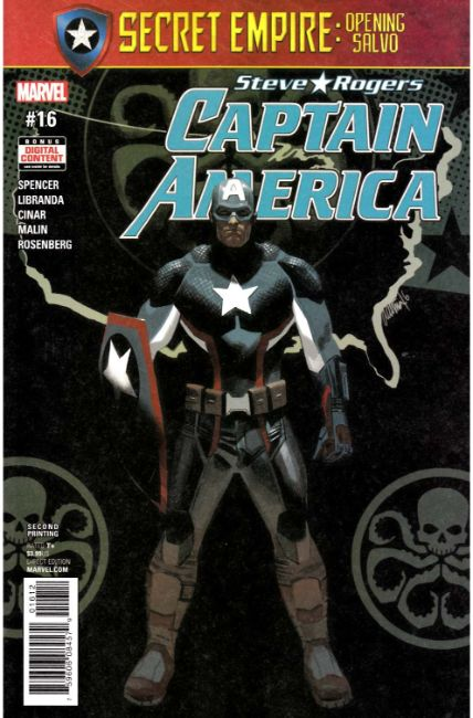 Captain America Steve Rogers #16 Second Printing [Marvel Comic]