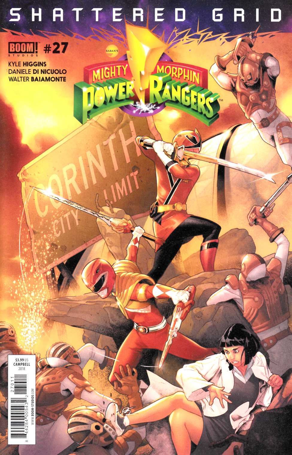 Mighty Morphin Power Rangers #27 Near Mint (9.4) [Boom Comic] LARGE