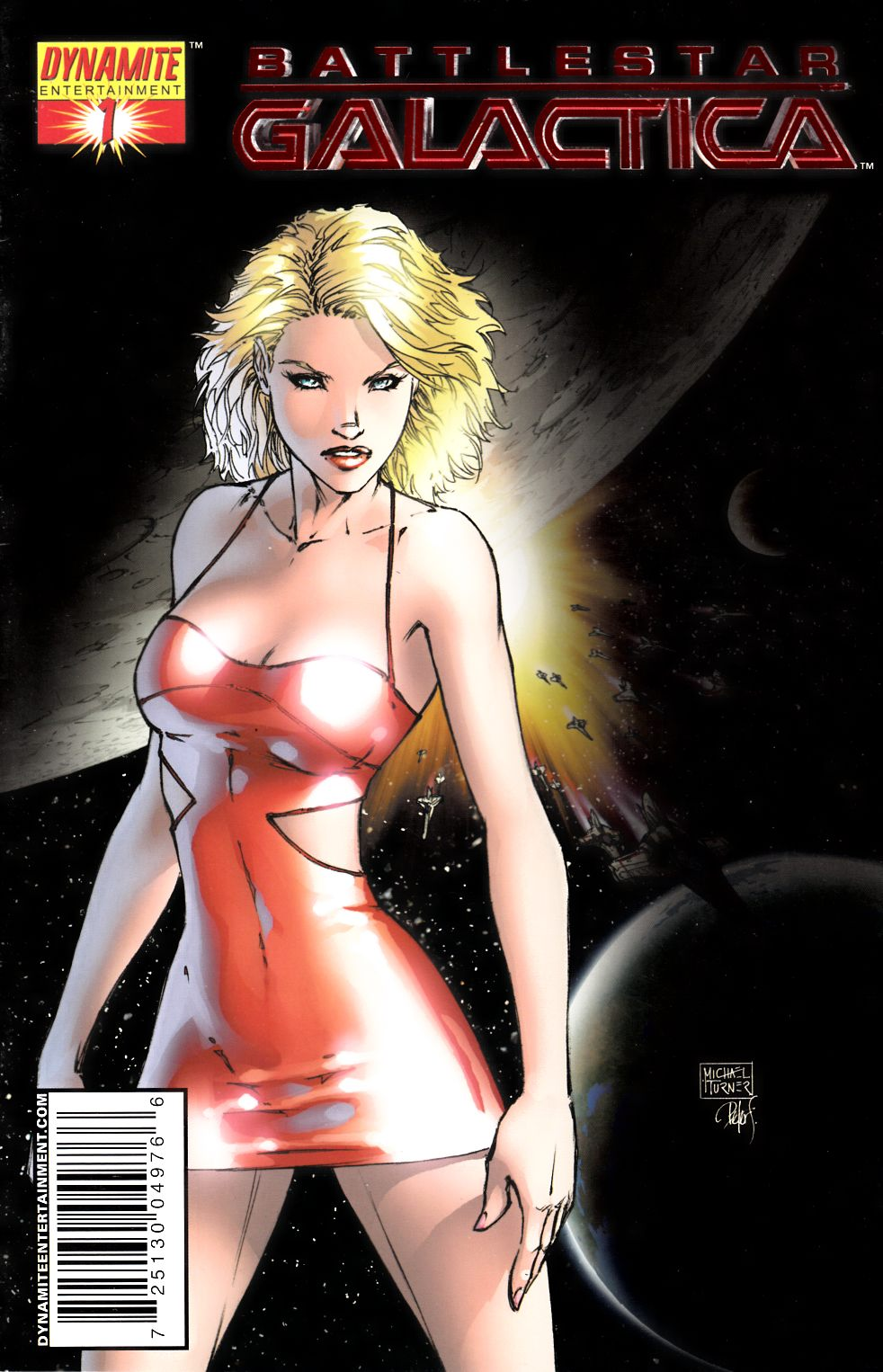 Battlestar Galactica #1 Red Foil Turner Cover Very Fine (8.0) [Dynamite Comic]_THUMBNAIL